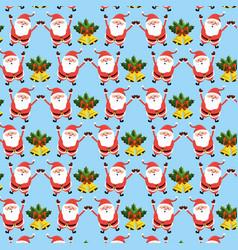 happy merry christmas celebration background vector image