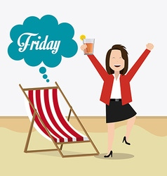 Happy weekend design vector image
