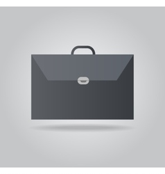 Icon briefcase vector image