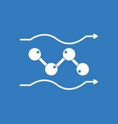 Icon molecules motion vector