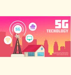 Internet technology in urban environment vector