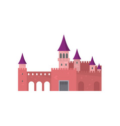 legendary red brick castle with beautiful purple vector image