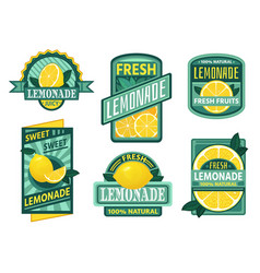 Lemonade badge lemon syrup fresh lemonades vector