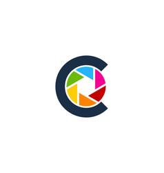 lens letter c logo icon design vector image