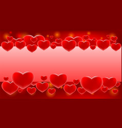 love hearts for valentines day vector image