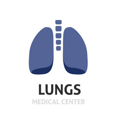 lungs logotype symbol or lung care logo vector image