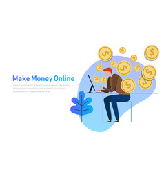 Make money online business concept vector