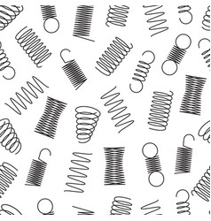 metal springs seamless pattern steel coil spirals vector image