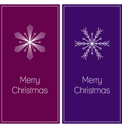 minimalistic christmas greeting cards vector image