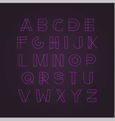 modern neon font - minimalistic design vector image