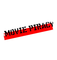 Movie piracy rubber stamp vector