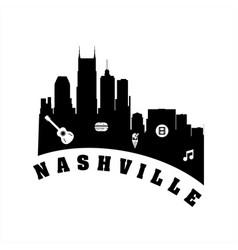 Nashville city logo icon and vector