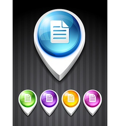 note icon vector image
