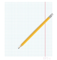 Notebook sheet of paper in the box with the fields vector image