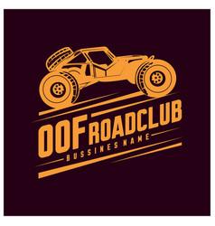 Off-road car logo off-road 4x4 extreme car club vector