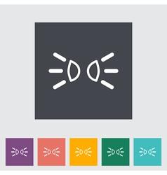 Park lights vector image