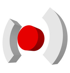 Red target mark crosshair reticle graphics vector