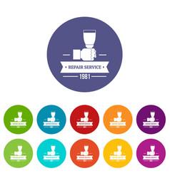Renovation service icons set color vector