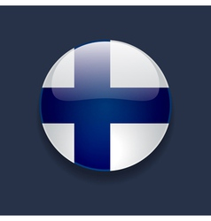 Round icon with flag of Finland vector image
