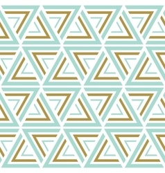 Seamless patterns Blue and gold seamless vector image