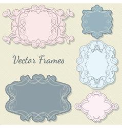 Set of decorative frames vector image