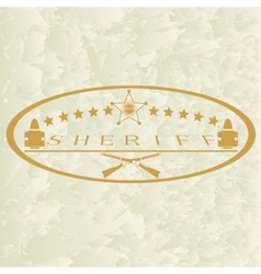 Sheriffs badge-6 vector