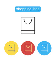 shopping bag outline icon vector image