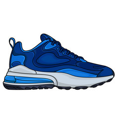 simple design blue sneakers vector image