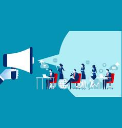 social media marketing concept business market vector image