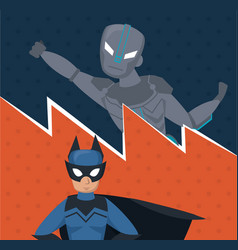 superheros team cartoon vector image
