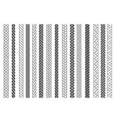 textile braids patterns vector image