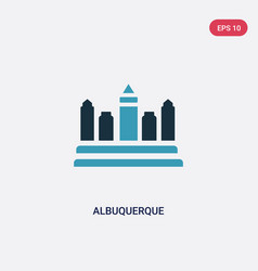 Two color albuquerque icon from united states of vector