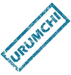 Urumchi rubber stamp vector image