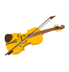 Violin with bow cartoon vector