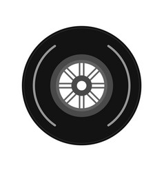 wheel tire icon image vector image