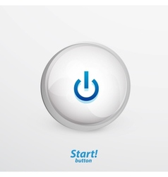 Blue start button vector image vector image