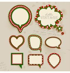 Christmas vintage bubbles vector image vector image