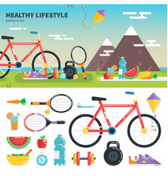 recomendations for healthy lifestyle vector image vector image