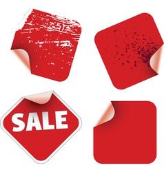 square labels badges vector image