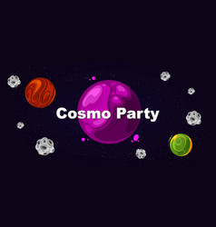 flyer for party cosmo party vector image vector image