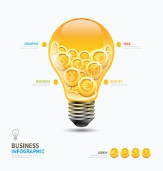 Infographic business currency money coins light bu vector image vector image