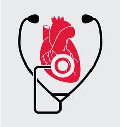 Medical check of heart health vector