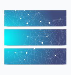 Scientific standard size banners geometric vector