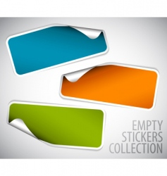set of blank rectangle stickers vector image