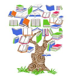 tree book vector image vector image