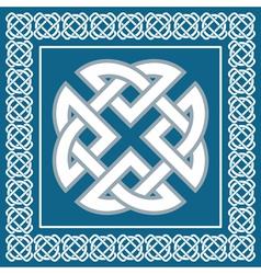 Celtic knotsymbol represents four Earth elements vector image vector image