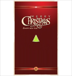 Christmas red banner vector image vector image