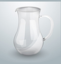 glass decanter for water or juice vector image
