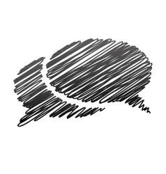 Handwriting communication bubbles vector