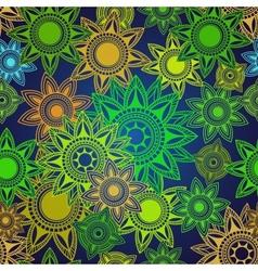Seamless texture of abstract circles vector image